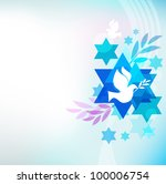 template card with jewish... | Shutterstock .eps vector #100006754