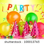 party items on green background | Shutterstock . vector #100013765