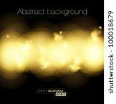 golden light halftone background | Shutterstock .eps vector #100018679