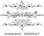 set of floral background with... | Shutterstock .eps vector #100026167