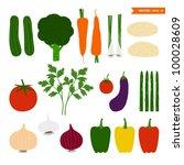 vegetables | Shutterstock .eps vector #100028609