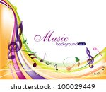 vector musical background with... | Shutterstock .eps vector #100029449