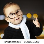 portrait of an adorable kid... | Shutterstock . vector #100032659