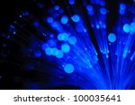 abstract light of fiber optics... | Shutterstock . vector #100035641