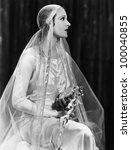 portrait of bride | Shutterstock . vector #100040855