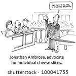 defending individual cheese... | Shutterstock . vector #100041755