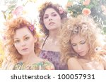 fashion shoot of young... | Shutterstock . vector #100057931