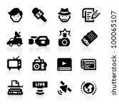 reporter icons set     elegant... | Shutterstock .eps vector #100065107