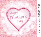 happy mother day background ... | Shutterstock .eps vector #100081859