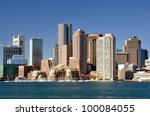 Boston, Massachusetts downtown skyline. - stock photo