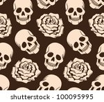 vector seamless with roses and...