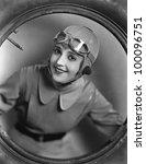 portrait of female pilot | Shutterstock . vector #100096751