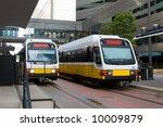 Light Rail Train In Downtown...