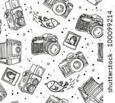 photo camera pattern | Shutterstock .eps vector #100099214
