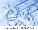 rolls of architecture... | Shutterstock . vector #100099349