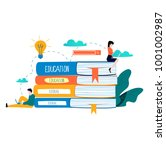education  online training... | Shutterstock .eps vector #1001002987