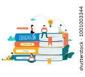 education  online training... | Shutterstock .eps vector #1001003344