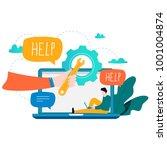 customer service  customer... | Shutterstock .eps vector #1001004874