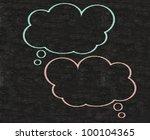 think bubble blank written on...   Shutterstock . vector #100104365