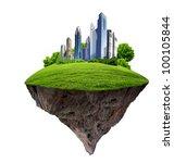 image of a modern city... | Shutterstock . vector #100105844