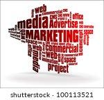 social media marketing | Shutterstock .eps vector #100113521