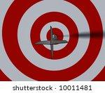 bullseye   business concept  ... | Shutterstock . vector #10011481