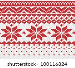 red snowflake seamless knitted... | Shutterstock .eps vector #100116824