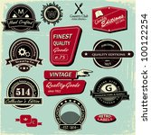 vintage style labels  set of 12 ... | Shutterstock .eps vector #100122254