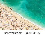 Beach Of The Cote D'azur With...