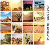 african safari in etosha namibia | Shutterstock . vector #100131434