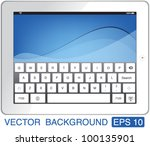 vector illustration white touch ... | Shutterstock .eps vector #100135901