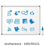 social media icons drawing... | Shutterstock .eps vector #100150121