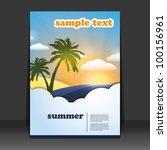 flyer or cover design | Shutterstock .eps vector #100156961