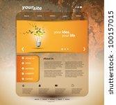website template | Shutterstock .eps vector #100157015