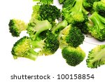 Boiled Broccoli Ready For Green ...