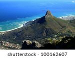 Lions Head And Cape Town  Sout...