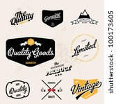vintage retro inspired quality... | Shutterstock .eps vector #100173605