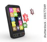 mobile phone software. screen... | Shutterstock . vector #100177349