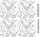 seamless pattern on a theme... | Shutterstock .eps vector #100180259