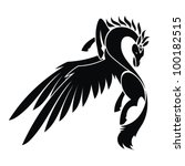 pegasus   vector illustration | Shutterstock .eps vector #100182515