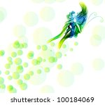 Smooth abstract butterfly background - stock photo