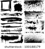 set of black and white grunge... | Shutterstock .eps vector #100188179