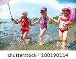 Three Little Funny  Cute Girls...