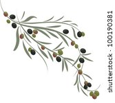 vector illustration of olive... | Shutterstock .eps vector #100190381