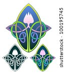 lotus knot with non gradient...   Shutterstock .eps vector #100195745