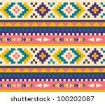 seamless aztec pattern | Shutterstock .eps vector #100202087