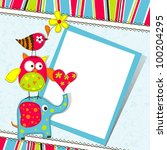template greeting card  vector... | Shutterstock .eps vector #100204295