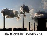 coal smoking power plant... | Shutterstock . vector #100208375