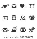 valentine related items icon... | Shutterstock .eps vector #100220471