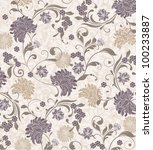 Floral Seamless Pattern  Vector ...